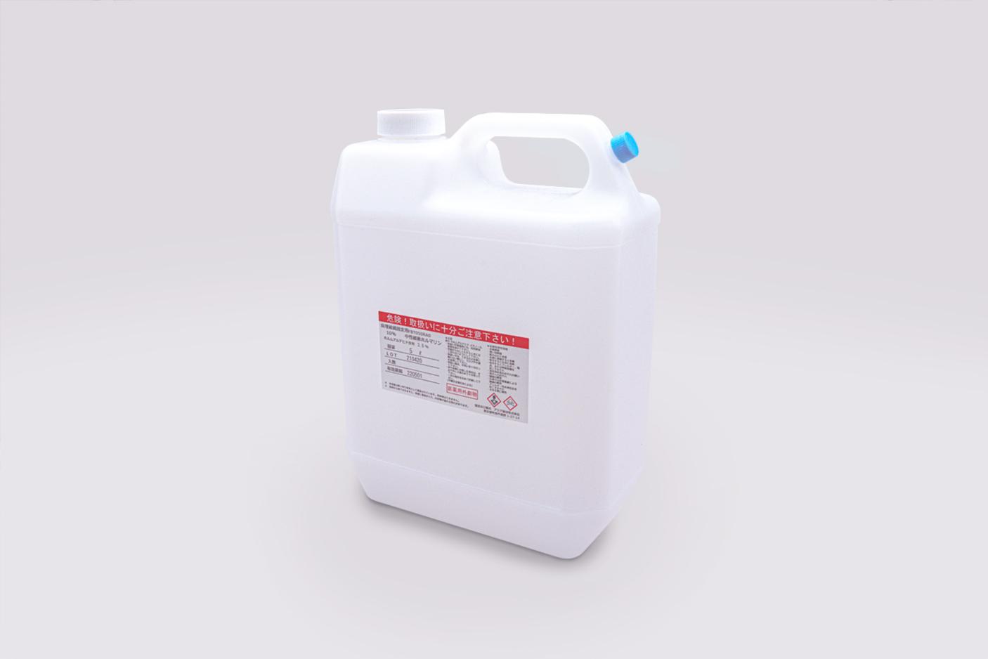 ホルマリン 5L タンク 中性緩衝ホルマリン 固定用 大容量